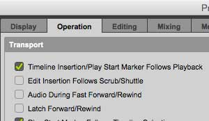 Pro Tools Preferences Insertion Follows Playback