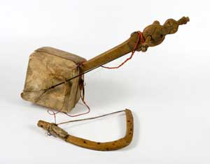 Masinqo, an one-string fiddle-like Ethiopian instrument.