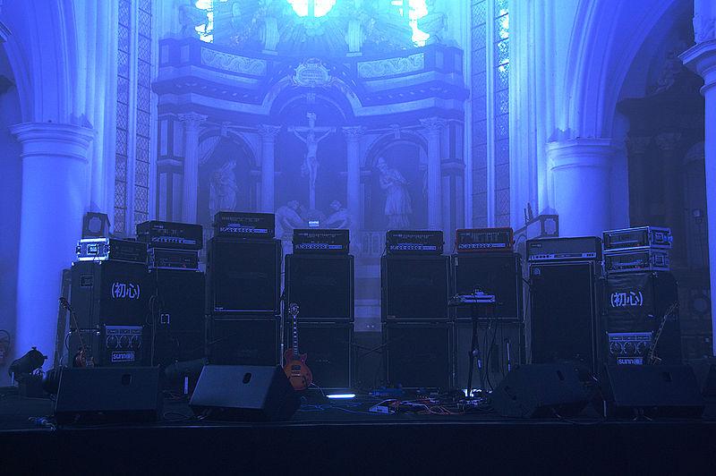Sunn O))) Stage Setup