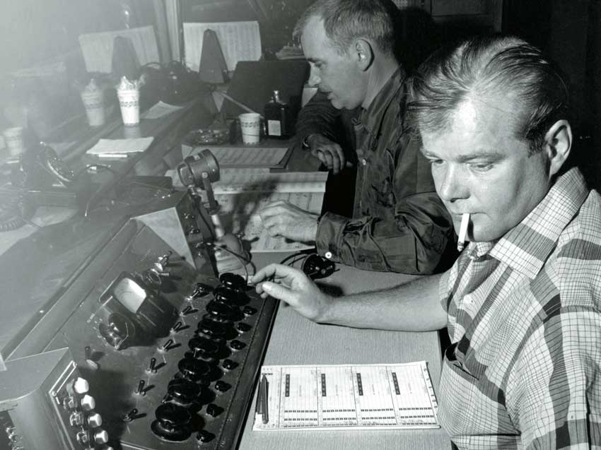 Putnam hard at work engineering a session. Credit: Universal Audio