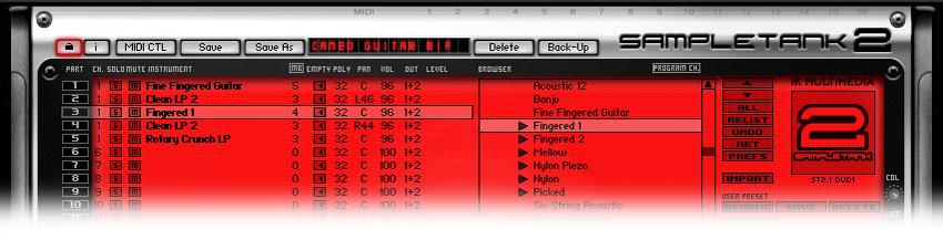 The Cameo Guitar Riff Combi in SampleTank 2