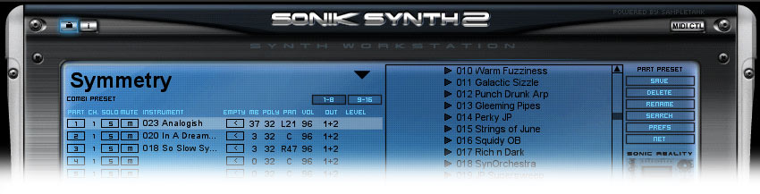 Combi saved in Sonik Synth 2