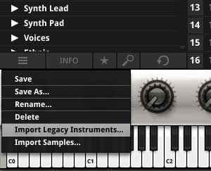 Import legacy instruments into SampleTank 3
