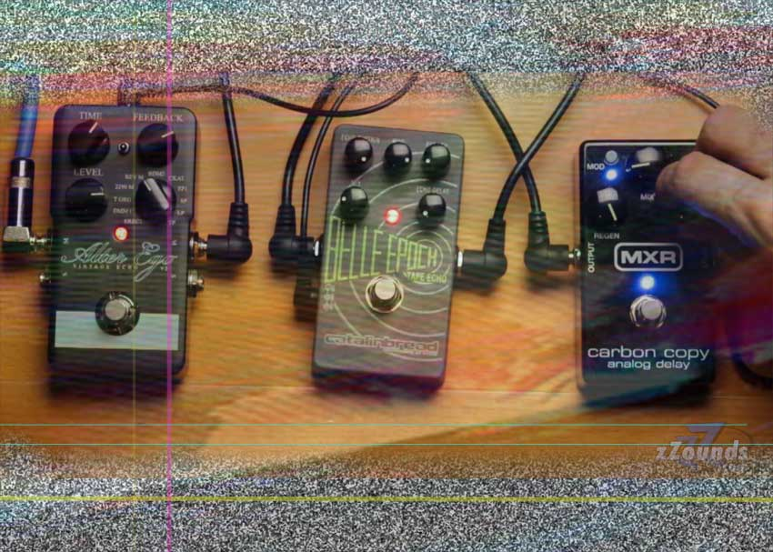 Self-oscillation tc electronic alter ego, mxr carbon copy, catalinbread belle epoch