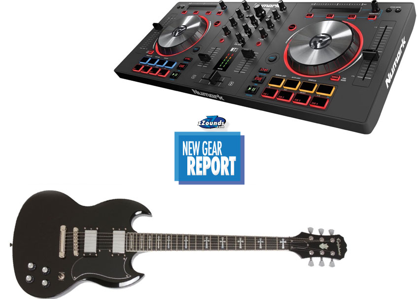 New Gear Report Epiphone Tony Iommi SG Numark Mixtrack 3