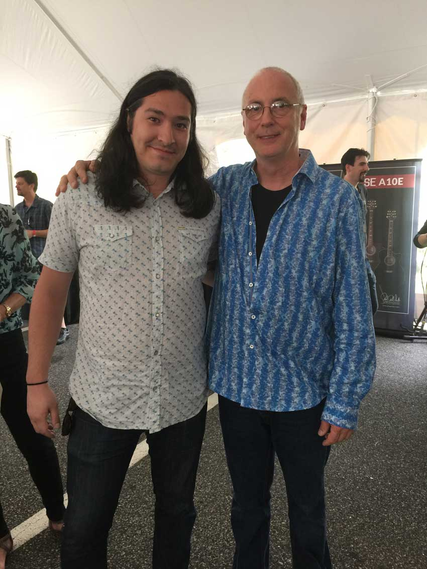 Mr. Paul Reed Smith with the author. Photo credit: Billy P.