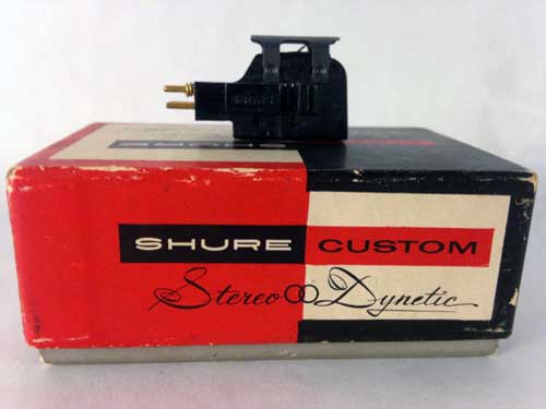 "Shure Custom Stereo Dynetic cartridge, the type suited to play ""The Orchestra...The Instruments."""