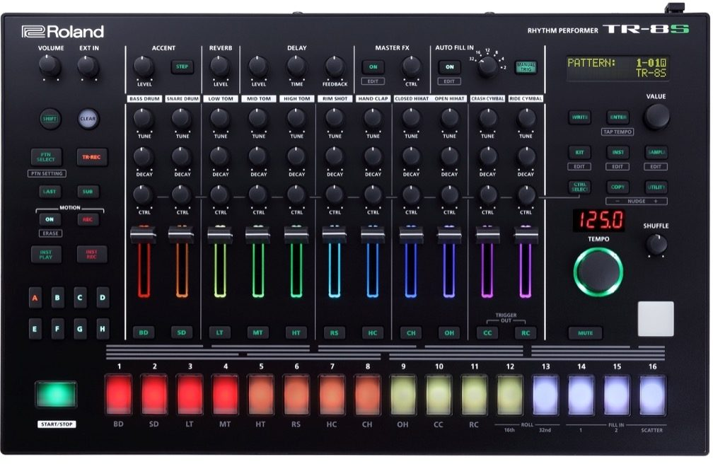 Roland's TR-8S AIRA Rhythm Performer, the modern incarnation of the TR-808.