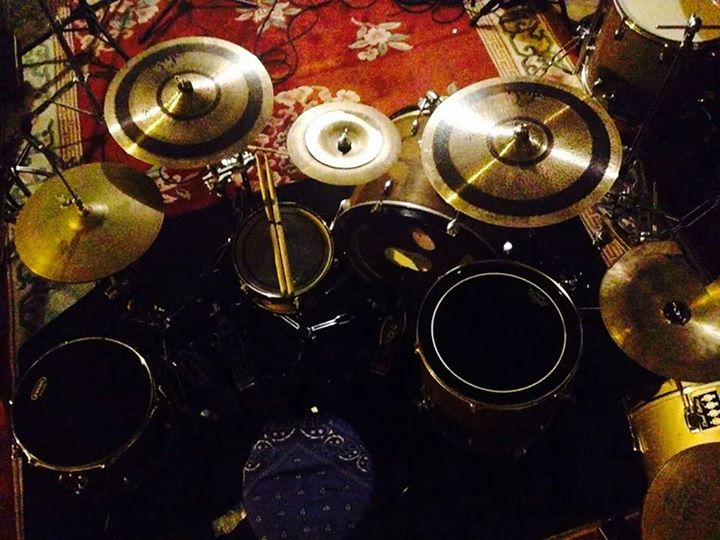 Nick's drum setup. Credit: Fero Lux Facebook.