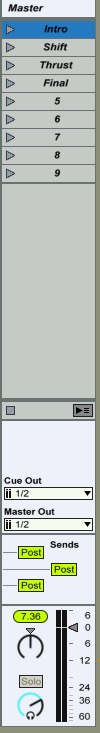 Ableton Live Master Track