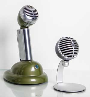 Shure 520LB microphone and Shure MOTIV MV5