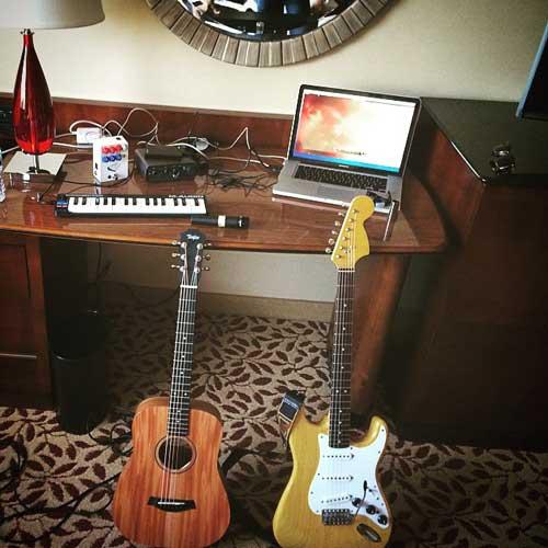Hotel room recording rig