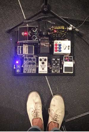 Marc Walloch's bass pedalboard
