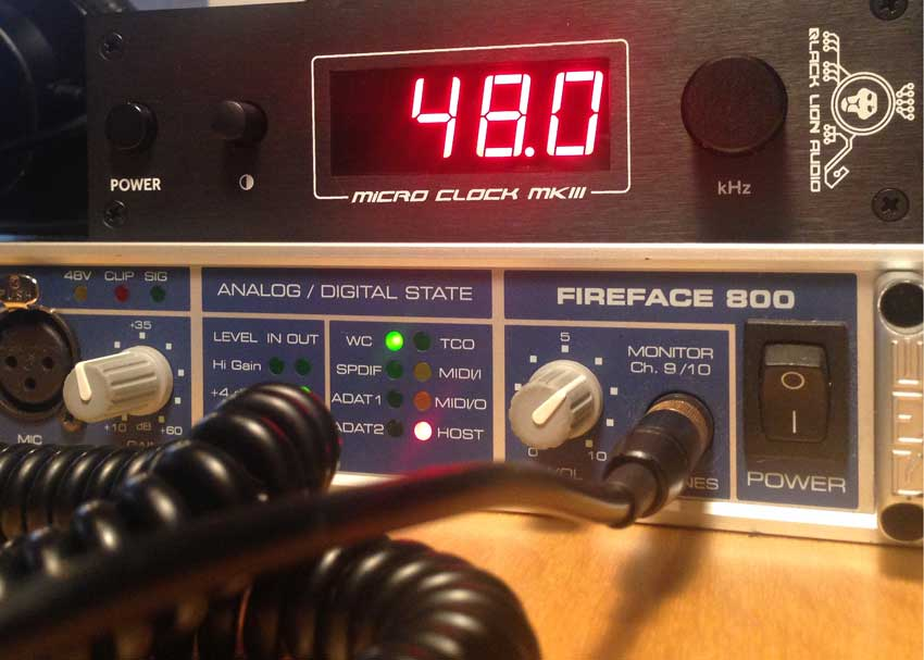 Shootout: Black Lion Audio Micro Clock mk3 word clock