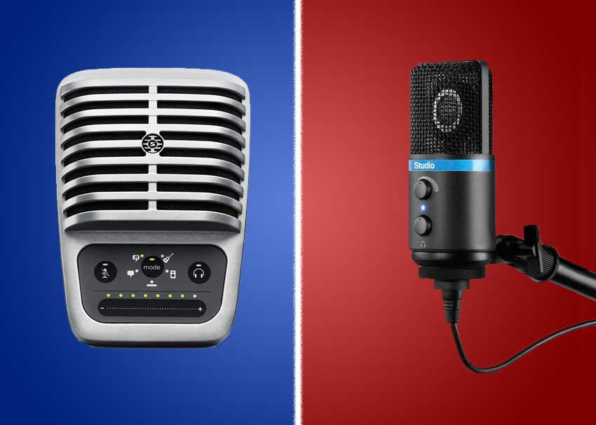 Shootout: IK Multimedia iRig Mic Studio Microphone vs. Shure MOTIV MV51 Microphone