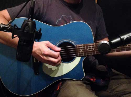 Shure PGA27 and PGA181 on acoustic guitar