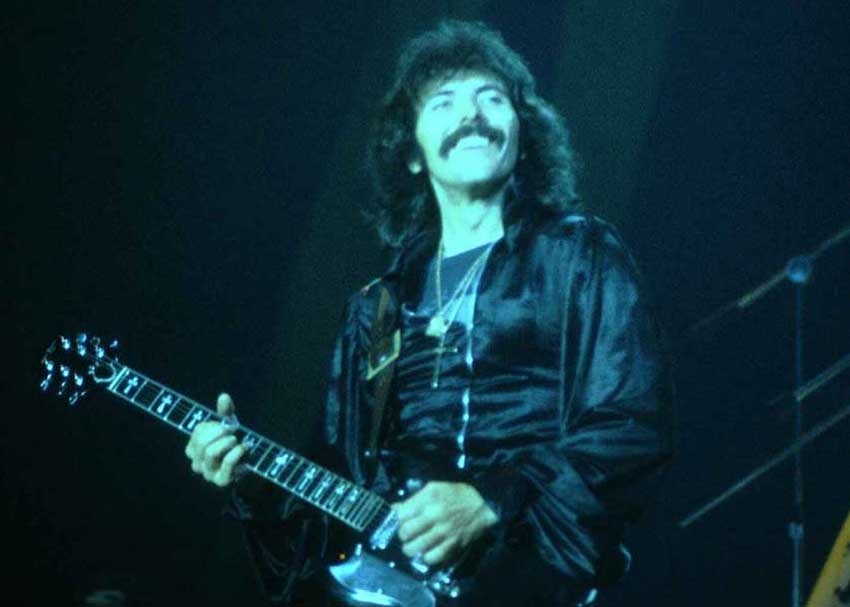 Tony Iommi rocking out. Photo credit: Carl Lender.