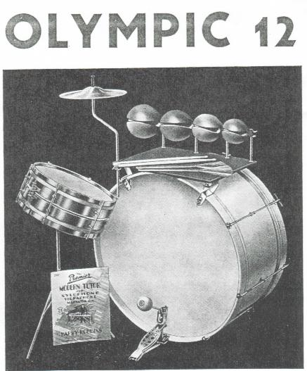 Olympic 12 Jazz kit, circa 1939