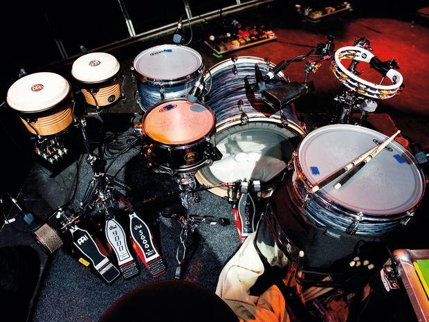 Thom Green's drum kit. Credit: musicradar.com