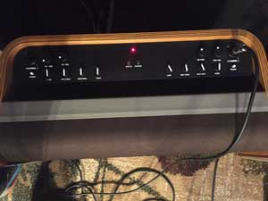Control panel for the Fender Acoustic Pro.