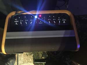 Control panel for the Fender Acoustic SFX.