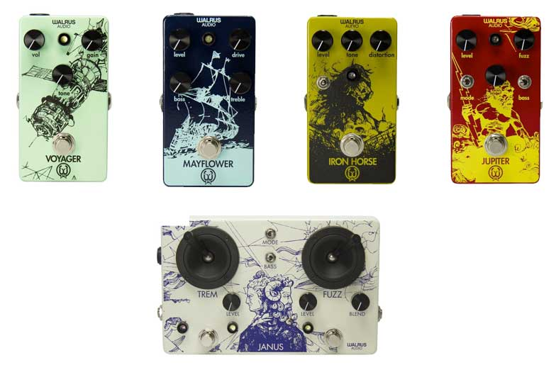 Walrus Audio Voyager, Mayflower, Iron Horse, Jupiter, Janus Tremolo Fuzz