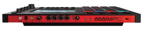 Akai MPC Touch rear panel