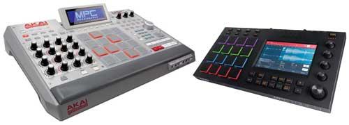 Left: Akai MPC Renaissance. Right: MPC Touch.