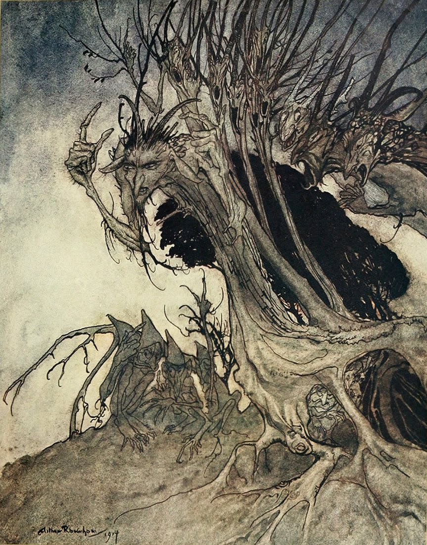 Arthur Rackham's Comus (for Doubleday, 1921)