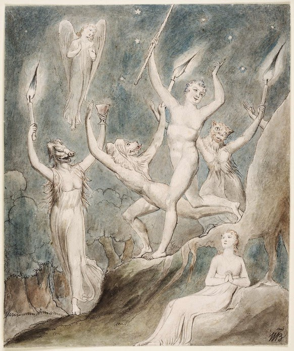 "William Blake's ""Comus"", The Thomas Set, 1801 (Henry E. Huntington Library and Art Gallery)"