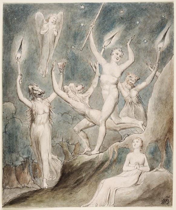 "William Blake's ""Comus"", The Thomas Set, 1801 (Henry E. Huntington Library and Art Gallery)"