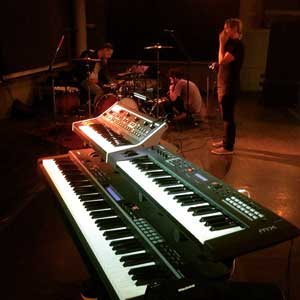 Spero's Halsey keyboard rig and collaborators