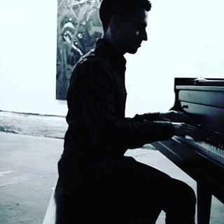 Spero at the piano