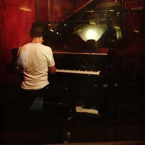 Greg Spero recording piano