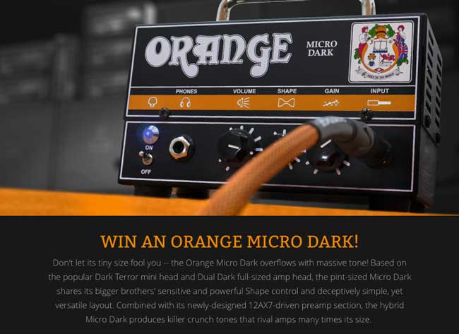 Orange Micro Dark Giveaway