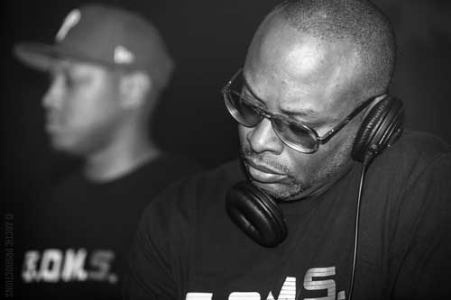DJ Jazzy Jeff monitors with one ear
