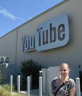 Maria at YouTube's Headquarters