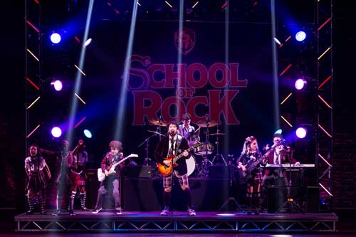 Today's assignment: kick some ass. Alex Brightman and the kids of School of Rock - The Musical.