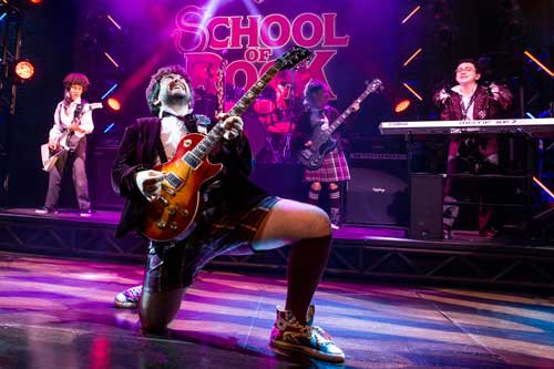 "Teacher's pet: As ""Zack"" in School of Rock, Brandon backs up Alex Brightman's ""Dewey"""