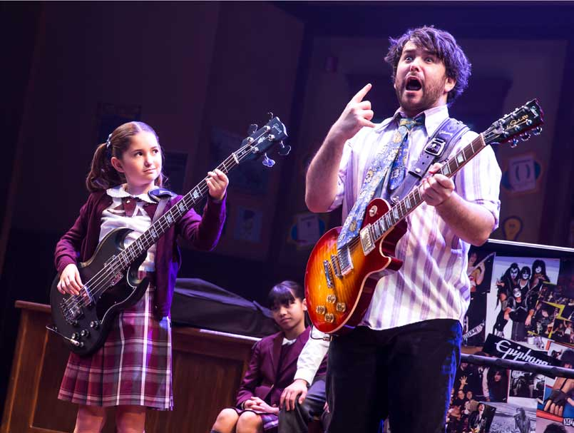 Evie Dolan and Alex Brightman in School of Rock - The Musical.