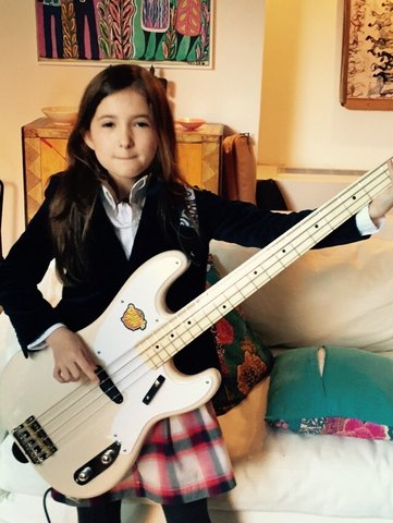 Evie picked up the bass for her School of Rock callback audition.