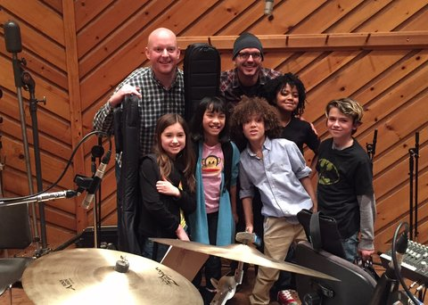 The cast of School of Rock headed to A Studios to record the OCR.