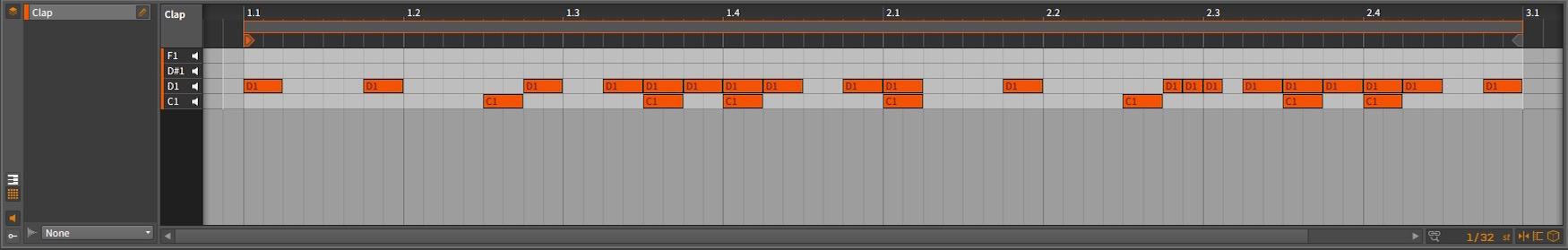 Bitwig Studio - Clap Arrangement [D1 - Clap]