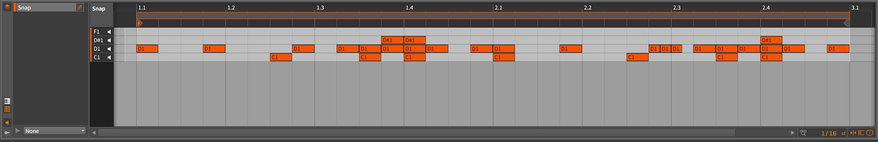 Bitwig Studio - Snap Arrangement [D#1 - Snap]
