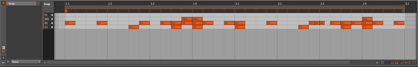 Bitwig Studio - Snap Arrangement [D#1 - Snap]