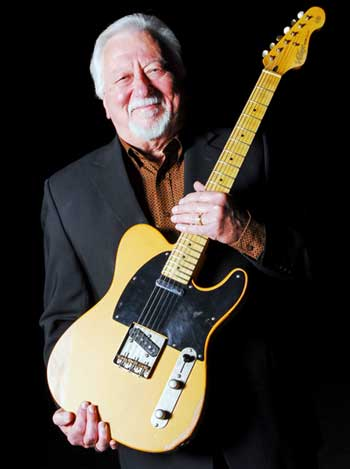Nashville guitarist Jimmy Capps holds his Vintage V52.