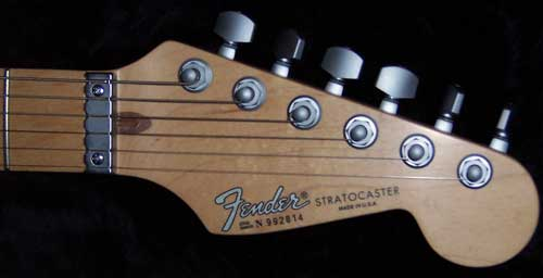 Fender Stratocaster with Wilkinson Roller Nut.