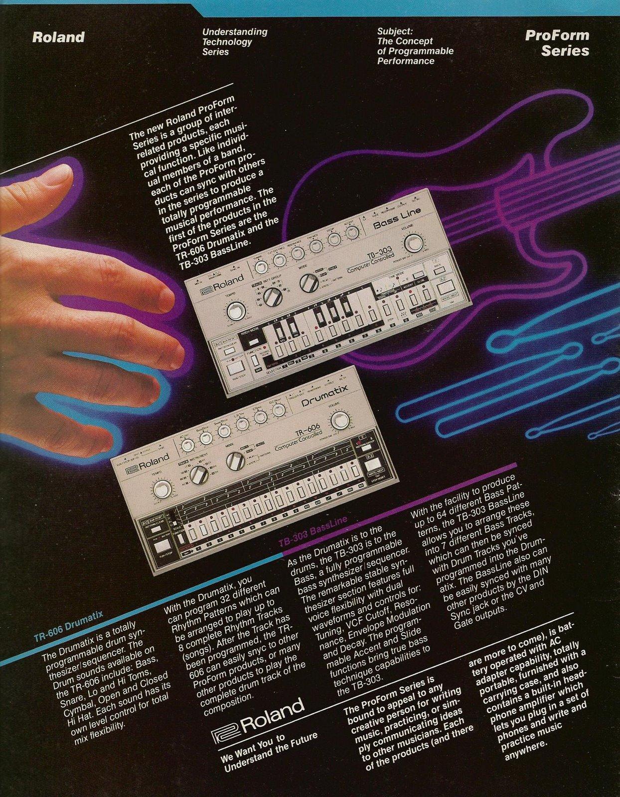 Roland TB-303 Advertisement