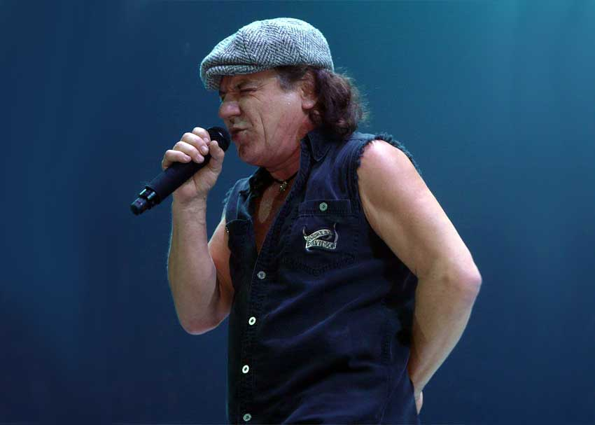 AC/DC's Brian Johnson at Risk of Total Hearing Loss
