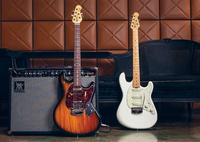 Ernie Ball Music Man Cutlass and Stingray -- Year of the Supercharged Guitar